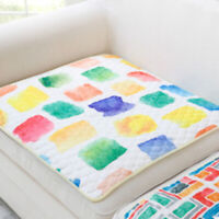Geometric Pattern Chair Seat Cushion Simple Decorative Sofa Mat Seat Pad J