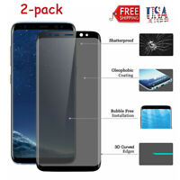2-pack Full Tempered Glass Screen Protector for Samsung Galaxy S8 Plus S9 plus