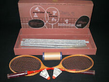 Original Vintage Sears J.C. Higgins Badminton Outdoor Set W/ Racquets Poles Box