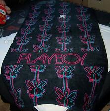 Playboy Bunny Logo Black Neon Jumbo 90cm x 180cm Printed Velour Beach Towel New