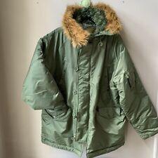 Knox Armory Alpha Industries N-3B(N) Army Green Parka Coat Jacket Sz XL