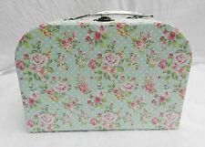 Pequeña maleta Floral Rosa Shabby Chic País Estilo Nuevo-Caja de almacenamiento