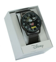 Disney MK8036  Mickey Mouse Black  Plated Mesh Band Analog Watch