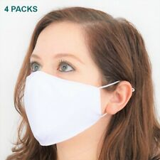 4 COUNTS Face Mask 3 PLY TRIPLE LAYER UV PROTECTION Cotton Washable Reusable