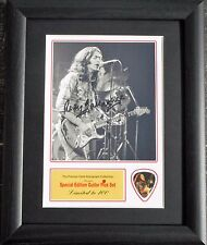 Rory Gallagher Preprinted Autograph & Guitar Pick Display Mounted & Framed