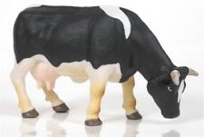 Papo 51015 - Black and White Cow with Bell Grazing Farm Animal