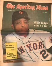 The Sporting News Newspaper October 6, 1973 Calls It a Day Mets' Willie Mays G