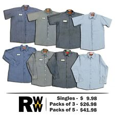 3d557ab42 Red Kap Work Shirts 2 Pocket Stripe Poplin Short & Long Sleeve Men's Uniform