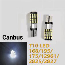 Parking Light T10 168 194 2825 12961 54 LED White Canbus Bulb K1 For Kia BMW HAK