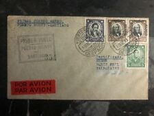 1930 Port Montt Chile First Flight cover FFC to Valparaiso