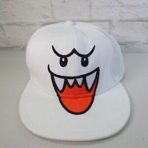 Ghost Boo White Hat Baseball Cap - Official Genuine Nintendo Super Mario Bros