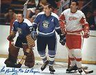 """Signed 8x10 LES BINKLEY """"1st Penguin"""" Pittsburgh Penguins Photo - COA"""