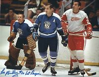 "Signed  8x10 LES BINKLEY ""1st Penguin"" Pittsburgh Penguins Photo w/ Show ticket"