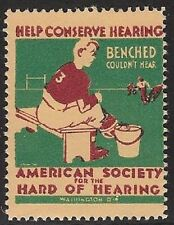 USA Cinderella: 1930s Amer Soc. for Hard of Hearing: Help Conserv Hearing-dw849c