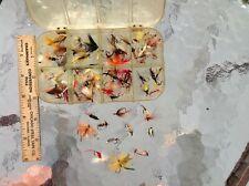 "Approximately 7 dozen Wet &Dry Flies in ""Dewitt Baits"" Fly Box"