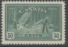 Canada SG405 1946 50c Verde Menta MTD