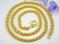 Superb Men S Chain 26 Heavy Baht Necklace Thai 22k 24k Gold Gp Jewelry Gt22