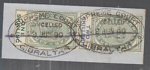 Gibraltar Revenue Stamp Queen Victoria