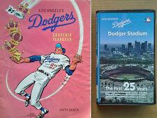 LOS ANGELES DODGERS - DODGER STADIUM / FIRST 25 YRS - VHS + 1967 SOUVENIR YEARBK