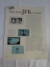 Vintage 1963 JOHN F KENNEDY Stamp JFK Attached to LOOK article New Stamp JA