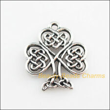 8 New Pendants Heart Chinese knot Tree Tibetan Silver Tone Charms 19x23mm
