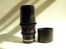 Rokinon Cine 100mm T3.1 Macro ED UMC Dual Scale lens for Sony E Mount. Excellent