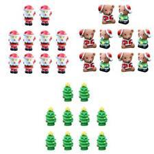 30 Piece Micro Landscape Mini Resin Bonsai Fairy Garden Santa Bears Trees