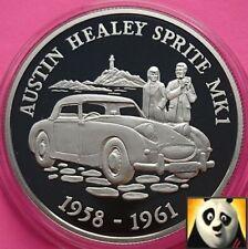 2009 ALDERNEY £ 5 Cinque sterline automobile Austin Healey Sprite mk1 argento Proof Coin