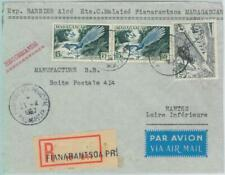 81041 - MADAGASCAR - POSTAL HISTORY - REGISTERED  Airmail COVER 1957 -  BIRDS