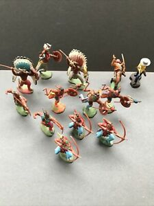 Britains Swoppet Indians & Cowboys Large Job Lot Good Rare Original Examples