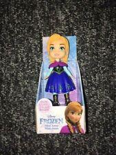 "Disney Frozen  Mini Toddler Doll 3"" Figure mini ANNA Dress Cake Topper RARE"