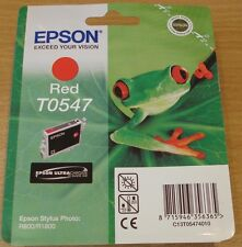 GENUINE EPSON T0547 TO547 Red cartridge ORIGINAL FROG OEM ink for R800 R1800