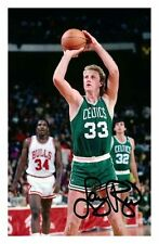LARRY BIRD - BOSTON CELTICS AUTOGRAPHED SIGNED A4 PP POSTER PHOTO