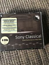 SONY CLASSICAL 4 CDs GREAT PERFORMANCES 1903-1998 GREATEST ARTISTS 4+HOURS OOP