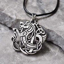 Plata Antigua PLT celta escocés mito Mar Caballo Colgante Collar Regalo Kelpie