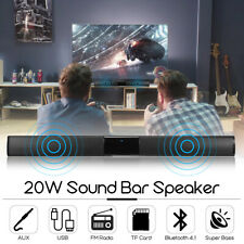 bluetooth SoundBar Wireless 4 Speaker HiFi Stereo Bass TV Home Theater Subwoofer