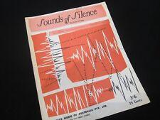 Paul Simon - Sound of Silence - Oz Sheet Music - RARE!!!!!