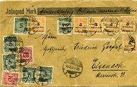 Brief Wertbrief Übergangsfrankatur MiF Infla Schmalkalden nach Eisenach 1923