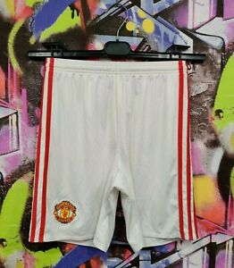 Manchester United FC Football Soccer Training Shorts Adidas 2016 Youth Size L