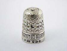 Antique 1897 Hallmark Sterling Silver Sewing Thimble Silversmith Charles Horner