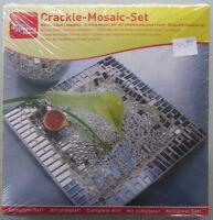 Crackle-Mosaic-Set - Komplett-Set Glasteller 18x18 cm Bastel-Set