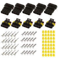 30 Sets 1 2 3 4 5 6 Pin Way Sealed Electrical Wire Connector Plug Car Motor New