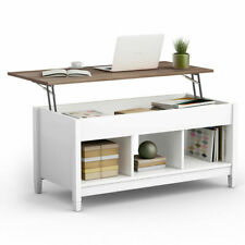 Lift Top Coffee Table w/ Hidden Compartment and Storage Shelves Furniture