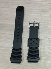 Watch Parts - Genuine Seiko 22mm Diver's Curved line Rubber Strap