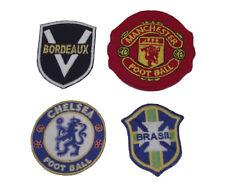 Lot de 4 Ecussons Football FIFA tissus thermocollant patch Blason Club de Foot