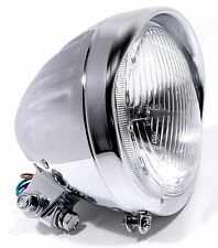 5-3/4 Chrom H4 Scheinwerfer Grooved Custom für Harley Suzuki Chopper Kawasaki