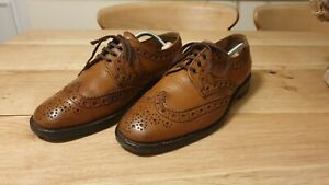 Loake Brown Leather Brogues Size 9