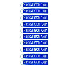 10 Pack Remove Before Flight Blue & White Key Chain aviation motorcycle pilot