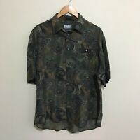 Target Abstract Button Front Short Sleeve Shirt Vintage 90's Mens Large 102cm