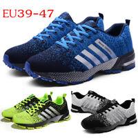 Men Sport Running Casual Shoes Summer Light Weige Mesh Sneakers Plus Size 35-47